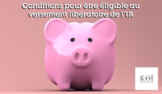 versement libératoire de l'impôt sur le revenu